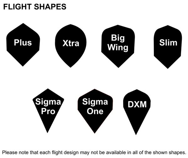 Dart Flights with customized Logo and Pattern