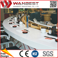 Sushi Restaurant Food Service led lighting Artificial stone Bar Counter