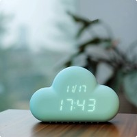 Cloud Shape Alarm Clock/Novelty Gadget Feature Digital Laser Target Clocks Shooting Gun Alarm Clock
