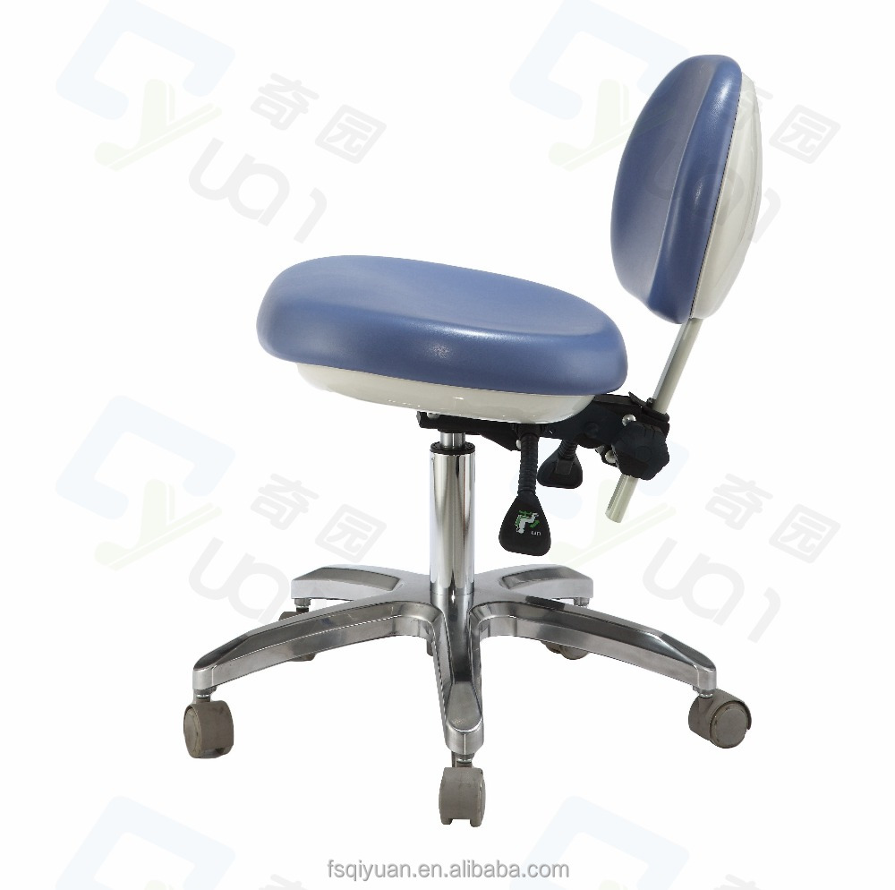 Height and Backrest Adjustable PU chair for Doctor