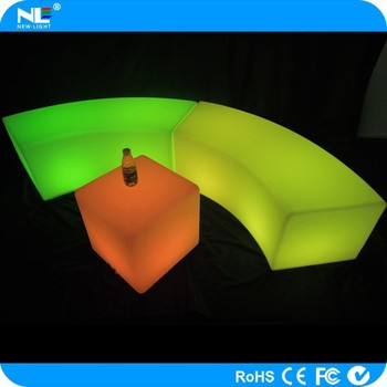 Fashionable high-temperature resistance led tables and chairs for events colorful lights led chairs