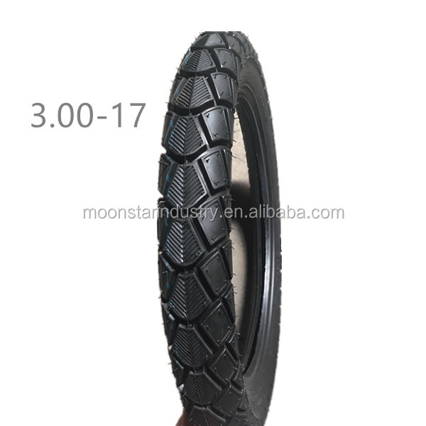high rubber content 45-55% motorcycle tyres 3.00-17