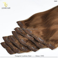 "Wholesale Price Good Feedback Top Quality No Shedding No Tangle No Dry Remy Human Hair 20"" 200 gram clip in extensions"