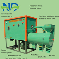 Multifunctional 25 fiess corn grits milling machine