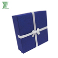 wholesale high quality blue luxury jewelry set packaging box necklace paper box
