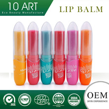 Round Ball 5 Color Fruit Flavor Natural Lip Balm