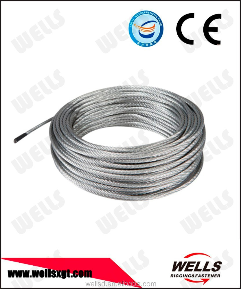 high quality 2mm - 62mm galvanized steel wire rope made in China
