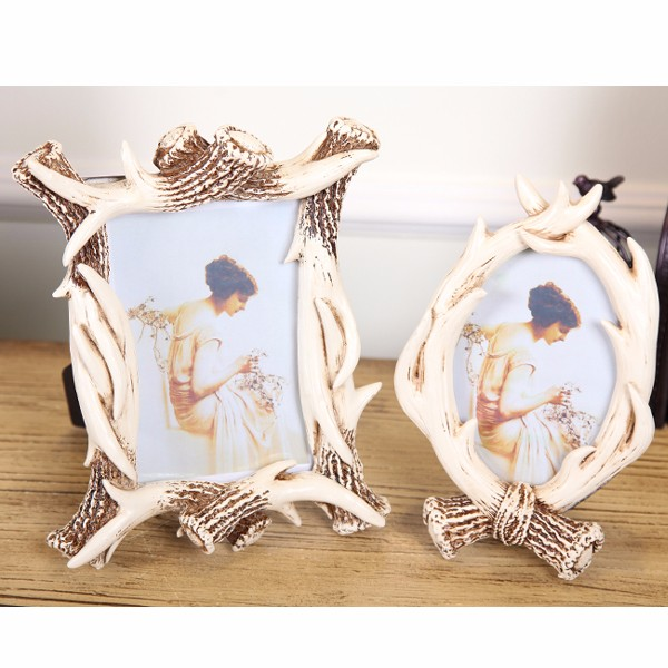 Custom ancient white pearl photo frame picture rahmen