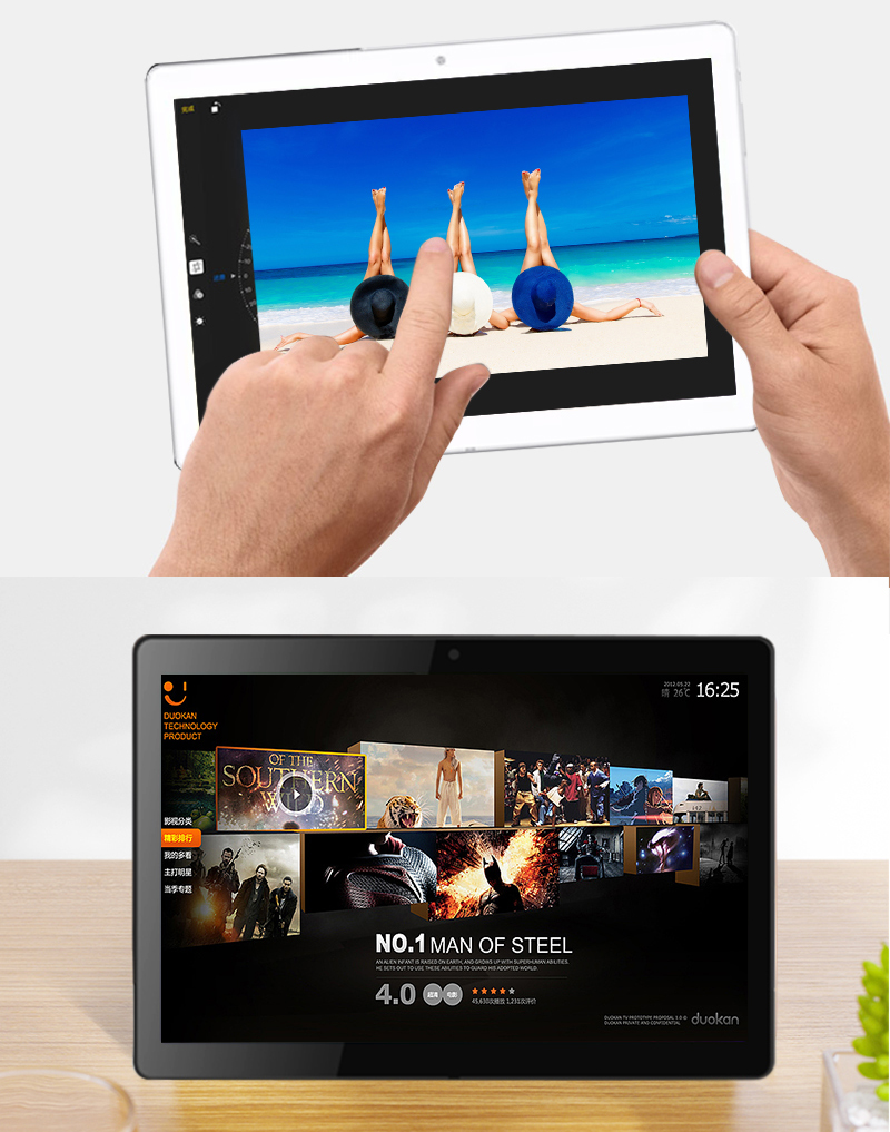 Verkaufsschlager 10 Zoll 1280 * 800 IPS 2G RAM 32G ROM Tablette Wifi androider Tablette PC mit GPS bf heißes reizvolles Foto 1080p volles hd Tablette pC