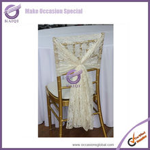 19773 wholesale wedding cheap ivory lace chair hood