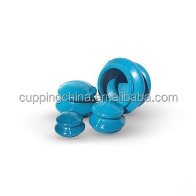Natural Rubber Cupping 4 Cups Vacuum Massage Cupping Set