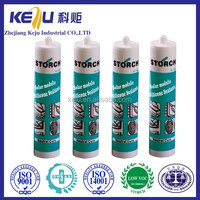 Raw silicone and flexible adhesive prices 100% silicone sealant acetic cure