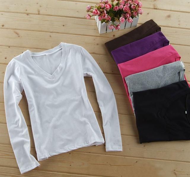 100 cotton t shirt design for women t shirt v neck long for 100 cotton v neck t shirts wholesale