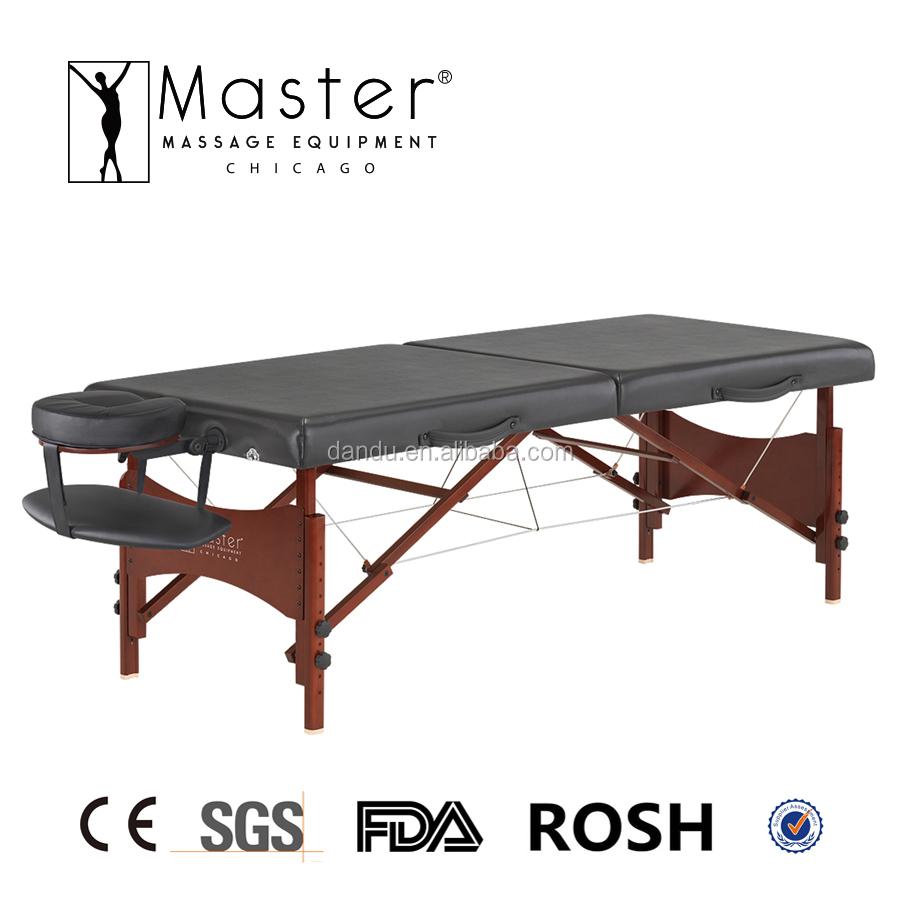 Master wooden portable foldable beauty massage table for Foldable beauty table