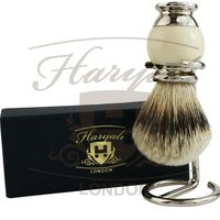 Imitation ivory & Crome Men Shaving Brush Silver Tip Badger Hair