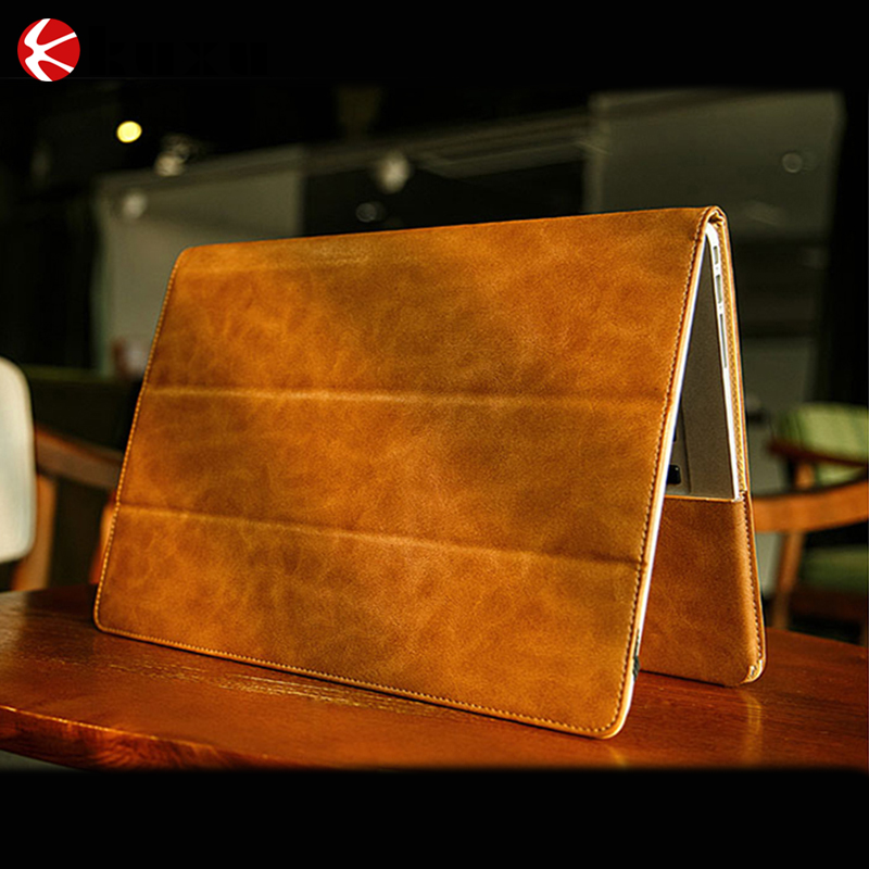 High Quality Protable Bluetooth Leather Keyboard Case for iPad Pro