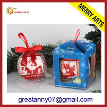 Hot Selling Paper Wrapped Christmas decoration 6cm Foam Ball