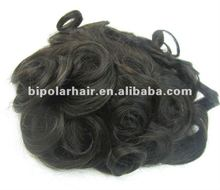 Curly virgin hair swiss lace toupee factory price