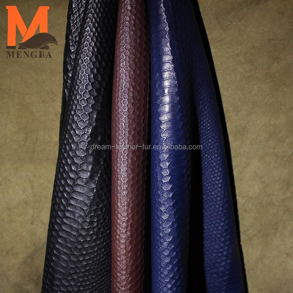 Italy genuine stretch leather