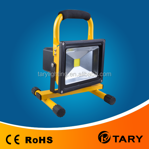 High quality led work light, 10W rechargeable led flood light with li-ion battery,Outdoor protable led flood light