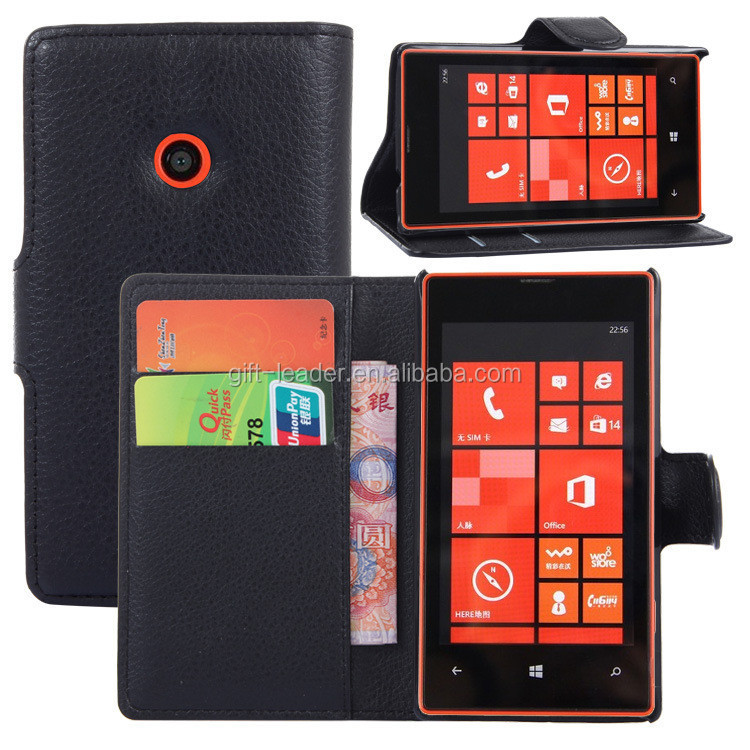 5.5 inch wallet phone case for nokia lumia 520