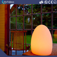 Stylish battery charge waterproof plastic rgb light home decoration lighting led ball lamp
