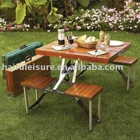wooden folding picnic table and chairs portable outdoor picnic tables