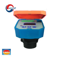 smart ultrasonic level meter for open channel flow and digital water level measurement