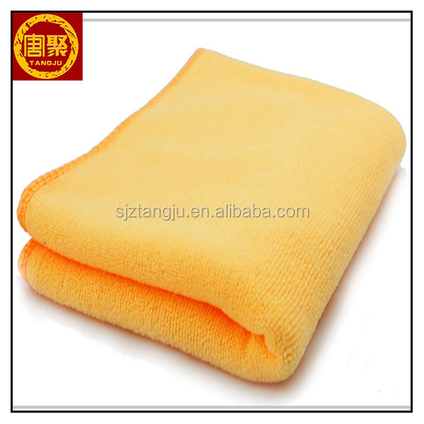 Yellow color Microfiber light color Car Cleaning Towel Microfibre Detailing Polishing Cloth Hand Towel