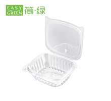 Clear food plastic container clamshell packaging plastic container with lids for food