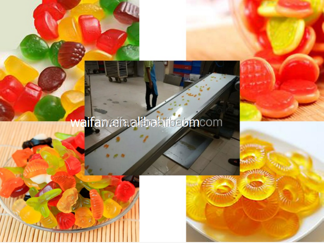 Commerical gelatin pectin small jelly gummy candy making machine/mini production line