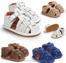 2017 summer new born baby boy soft soled toddler shoes pu material