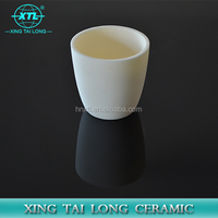 high quality high temperature resistant alumina oxide casting crucible