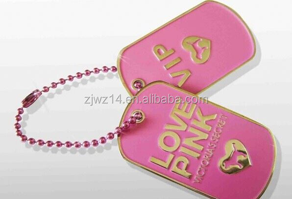 fashion metal dog tag with special finishing