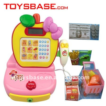 Vivid design plastic electronic toy cash register