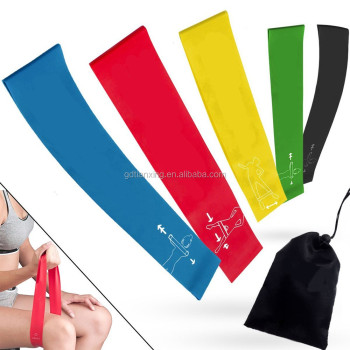 Fitness Yoga Elastic Resistance Band Custom Resistance Exercise Band Loop Latex Resistance Band