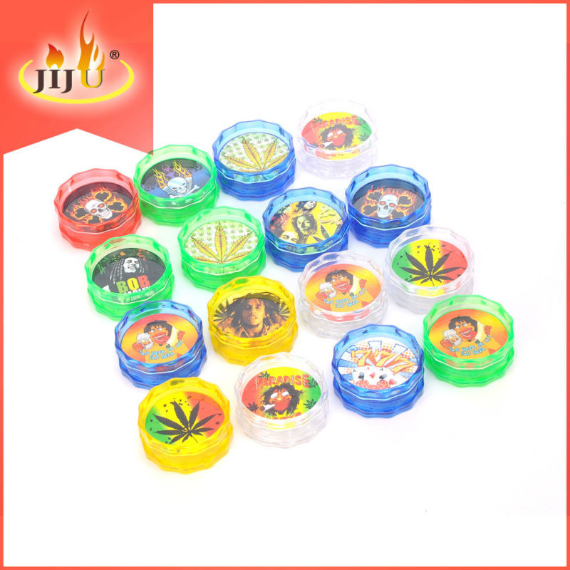 JL-008J new product 2tier chinese yiwu manual tobacco auxiliary device wholesale acryltc tobacco herb grinder