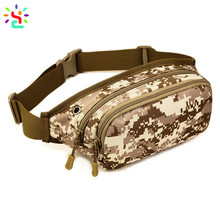 Tactical military hip sack fanny pack camo waist bag with adjustable belt hip pouch for outdoor camping hunting climbing bumbag