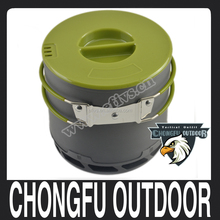 Portable 1-2 People Outdoor Camping Cookware Heat Collecting Exchanger Cooking Pot
