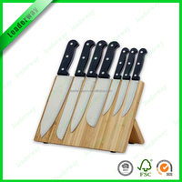 Top sell bamboo magnetic knife set with block