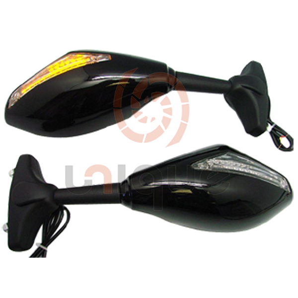 universal integrated motorcycle mirror with turn signal