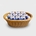 Modern houseware plastic rattan basket for beer / food storage