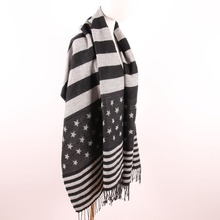 Best Selling China women jacquard acrylic knitting scarf and shawls