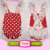 Infant & Toddler Girls Lace Ruffle red dots cheap Rompers clothing Baby Summer baby backless beach sunsuit
