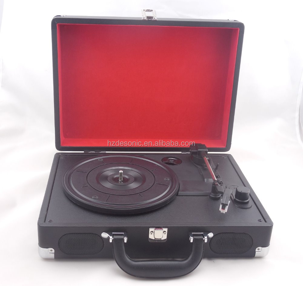 Black portable mini vinyl record turntable player wholesale