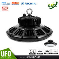 Microwave sensor garage industrial UFO led high bay light, warehouse 200w led high bay