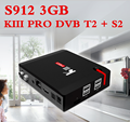 Most popular S912 octa core media box kiii pro dvb t2 s2 tv box android 7.1