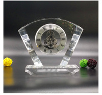 High-grade crystal unique table clock for business souvenirs gifts