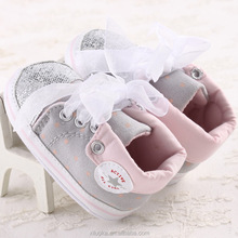 Newborn baby ribbon butterfly knot infant boots walking shoes