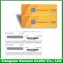 2016 hot sale pvc material transparent printed plastic business card